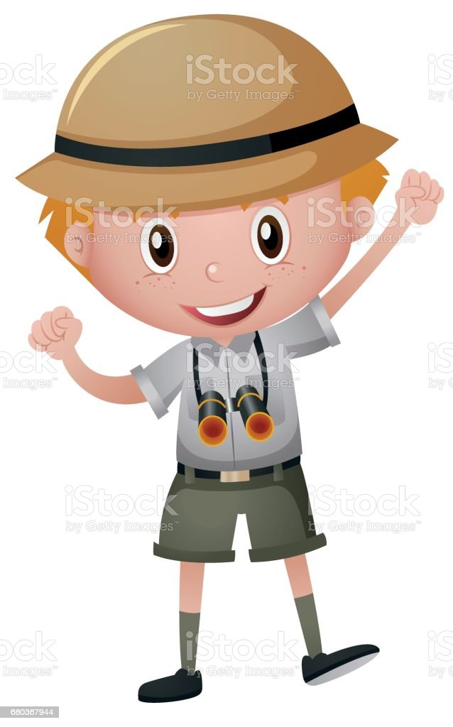 Little boy in safari costume vector art illustration  sc 1 st  iStock & Royalty Free Kid Safari Costume Clip Art Vector Images ...