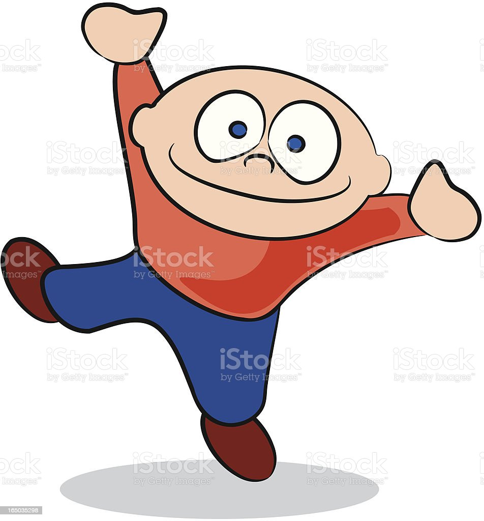 Little Boy Jumping royalty-free little boy jumping stock vector art & more images of blue
