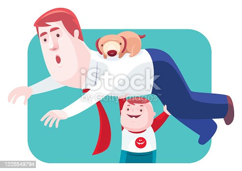 istock little boy lifting father 1225549794