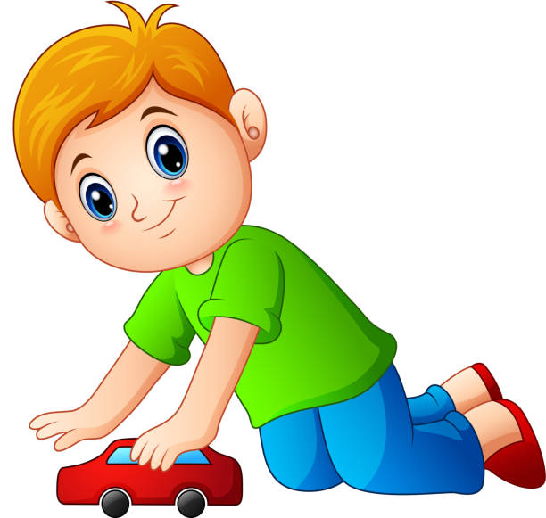 Little Boy Toys Clip Art : Royalty free kids pushing clip art vector images