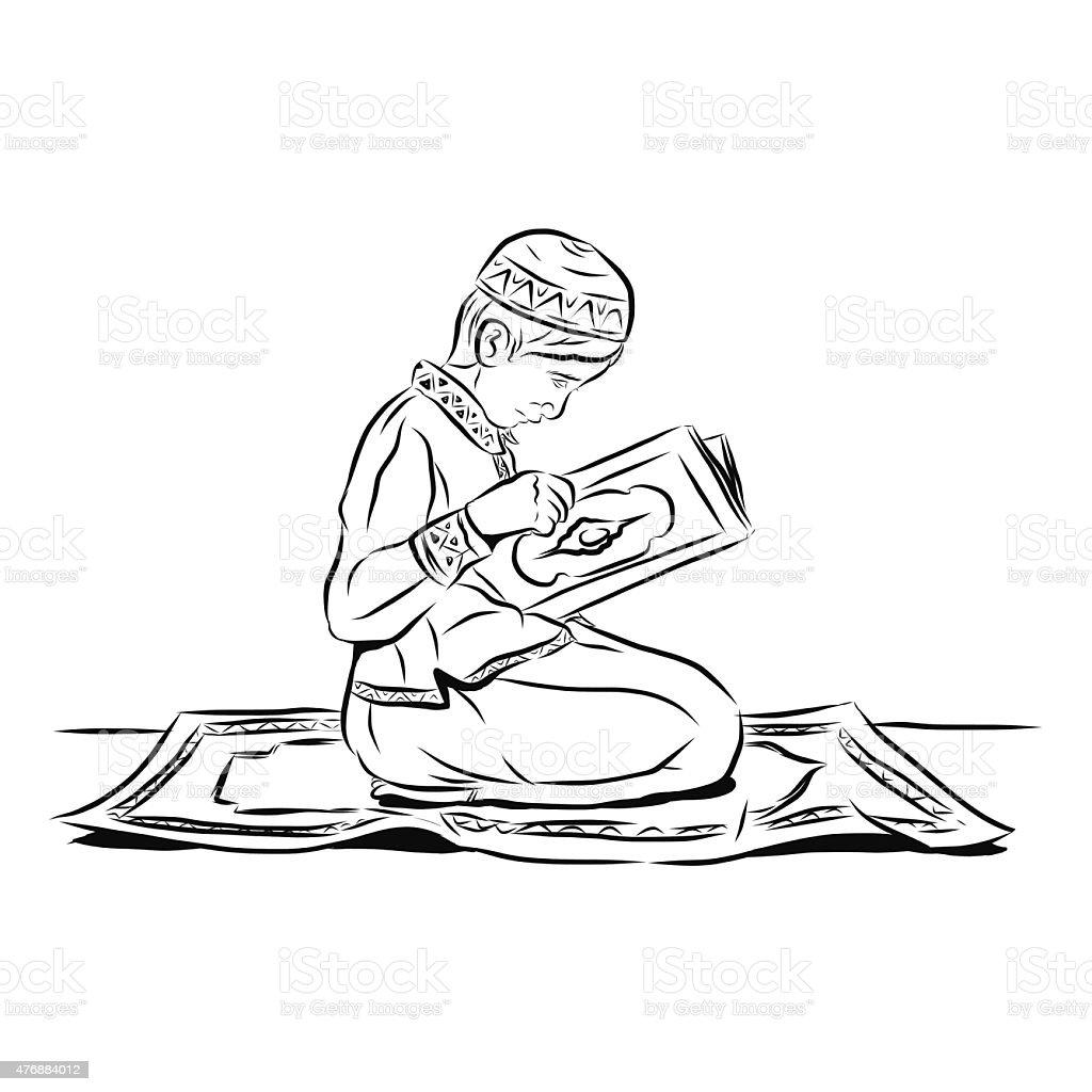 Little boy Read Alquran