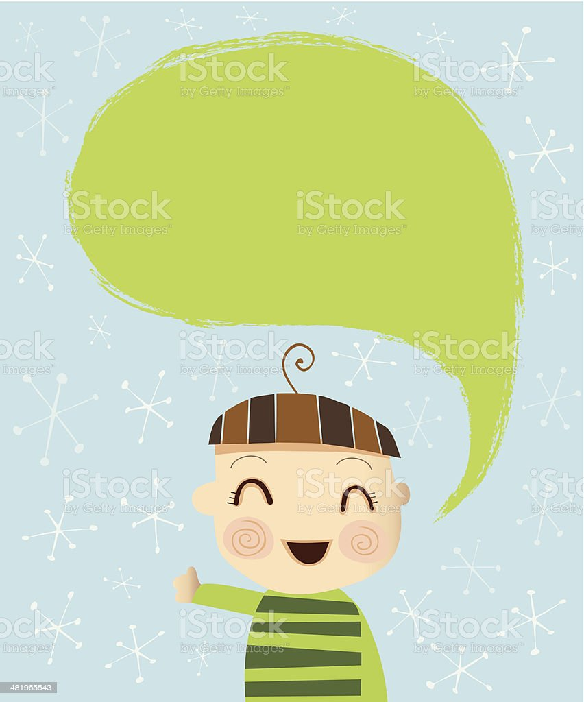 Little Boy saying Hi royalty-free little boy saying hi stock vector art & more images of blank