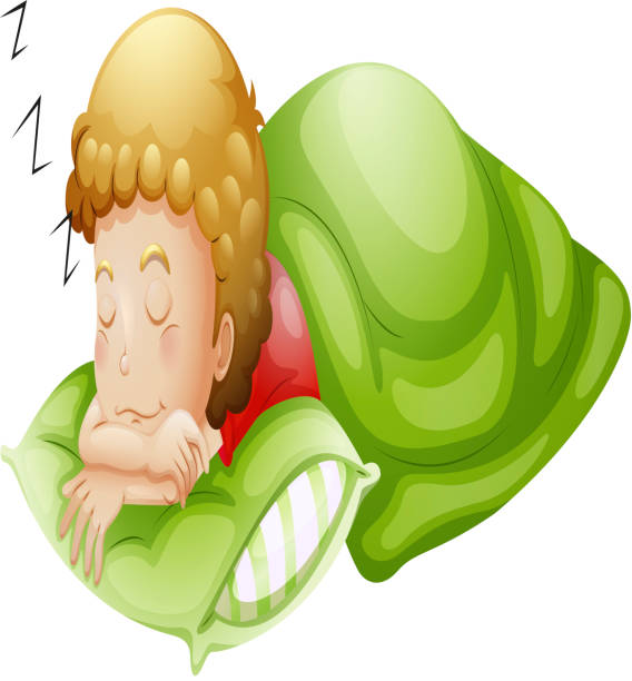 Royalty Free While Soundly Asleep People Cannot Clip Art