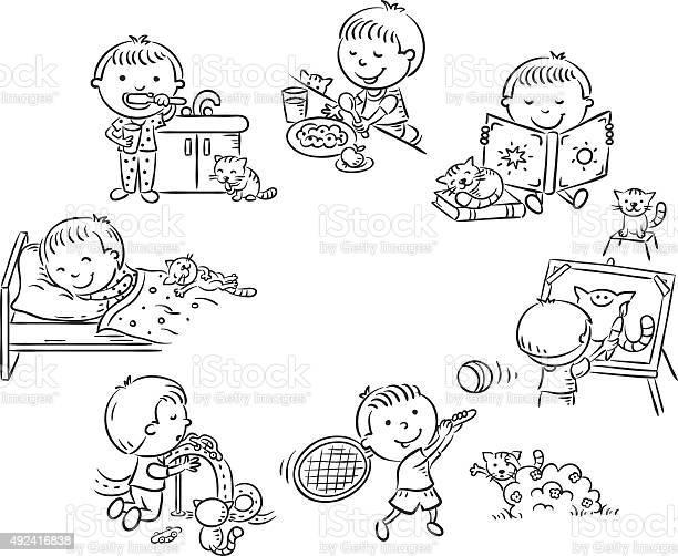 Little boys daily activities black and white outline vector id492416838?b=1&k=6&m=492416838&s=612x612&h=yx43jyzn7bylowb9csomt8w9eaeg6g6aglv7zfwida0=
