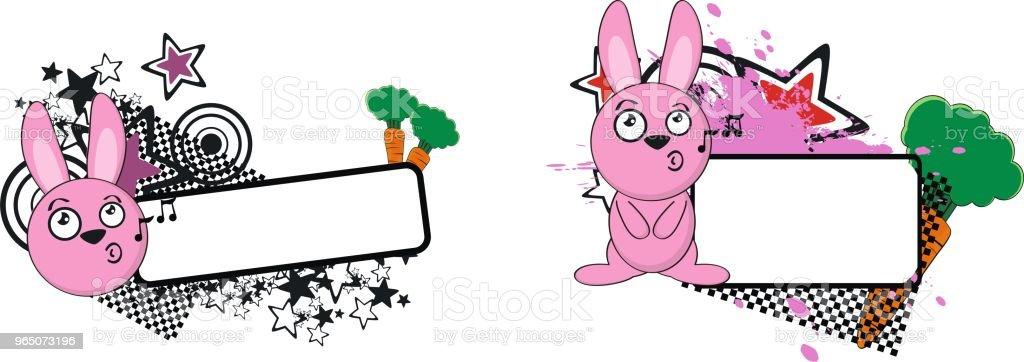 little bunny cartoon copy space set little bunny cartoon copy space set - stockowe grafiki wektorowe i więcej obrazów ameryka Łacińska royalty-free
