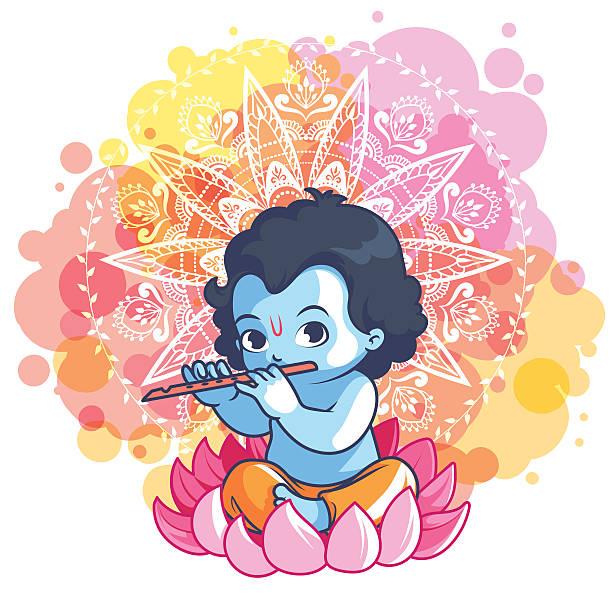 Top 60 God Krishna In Lotus Flower Clip Art Vector Graphics And