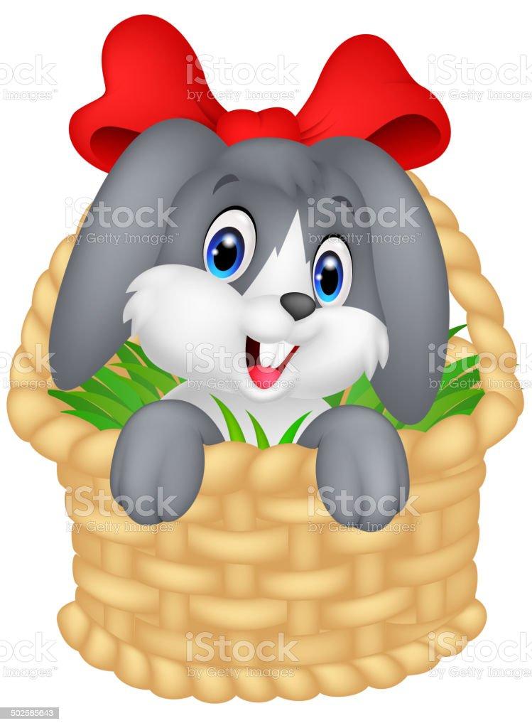 Little cartoon rabbit sitting in a bucket royalty-free little cartoon rabbit sitting in a bucket stock vector art & more images of animal