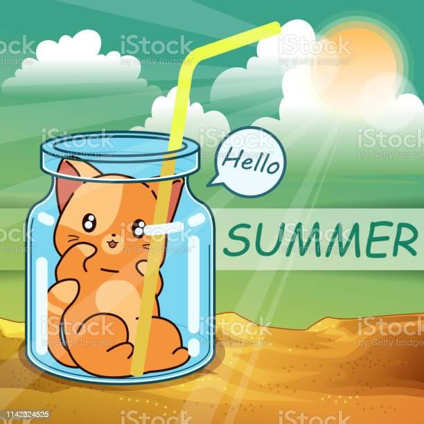 Little cat inside the bottle in the summer vector id1142324525?b=1&k=6&m=1142324525&s=612x612&h=jq47cz6acyacieg6456itsglw5mrvijzrhxowj7pkew=