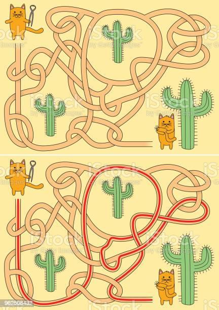Vetores de Pequeno Labirinto De Gatos e mais imagens de Alicate