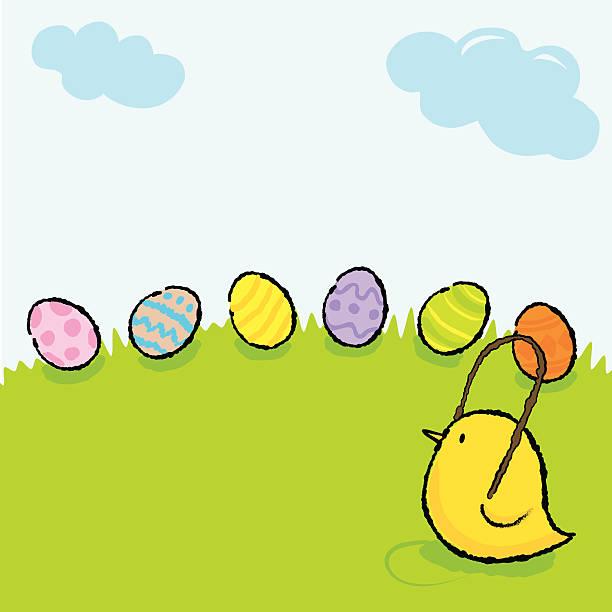 Little Chicks vector art illustration