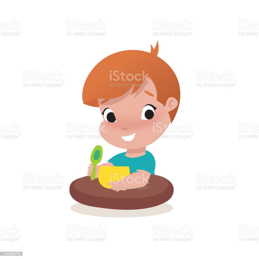 little child boy illustration vector art illustration