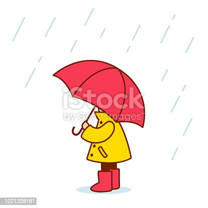 istock Little child with umbrella 1221209181