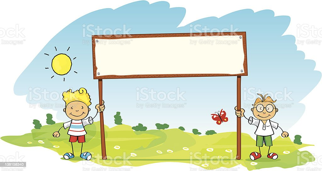 little children with banner royalty-free little children with banner stock vector art & more images of activist