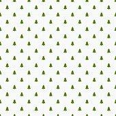 Little Christmas trees seamless pattern. Vector illustration