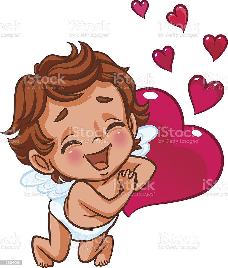 Little Cupid showing love royalty-free little cupid showing love stock vector art & more images of affectionate