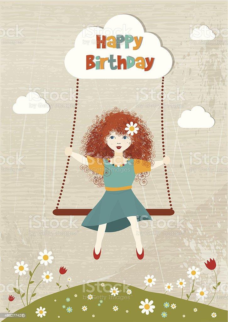 Марта прикольные, картинка с рыжей девочкой с днем рождения