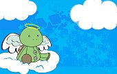 little cute baby angel animal cartoon background in vector format very easy to edit