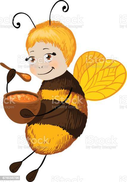 Little cute bee with honey smile character vector id676056296?b=1&k=6&m=676056296&s=612x612&h=a3efvpsm4f34ye1oi bcubfagteoec 0povc8cl b9q=