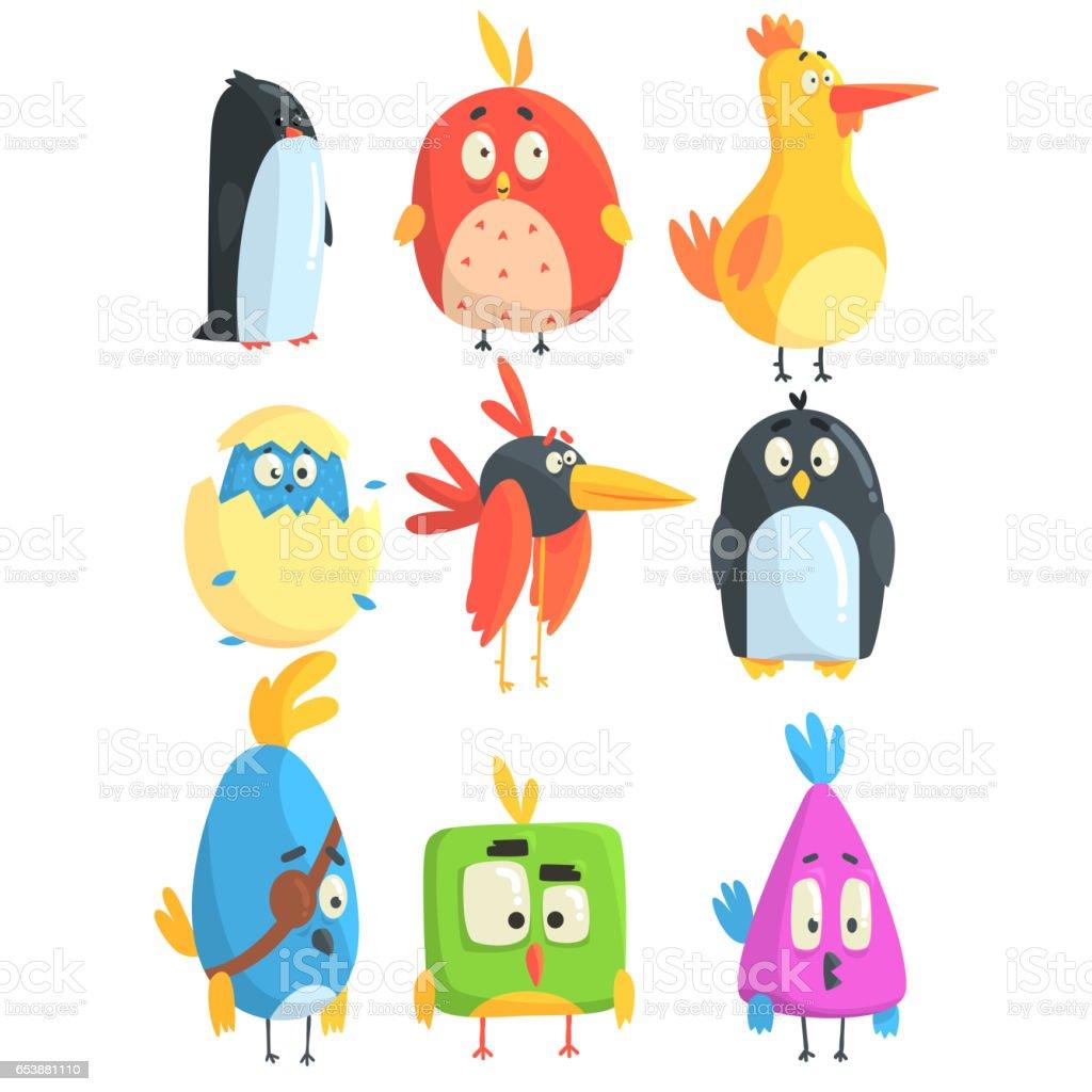 Petit Oiseau Mignon Poussins Collection De Personnages De Dessins