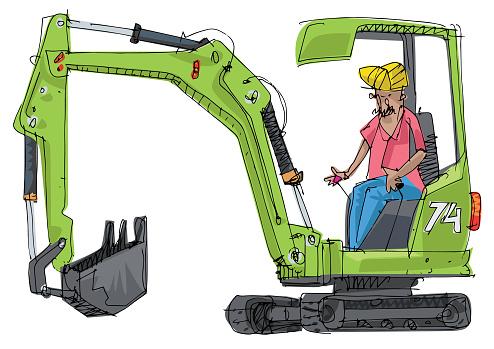 A little cute excavator