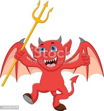 istock little devil cartoon holding trident 1342531576