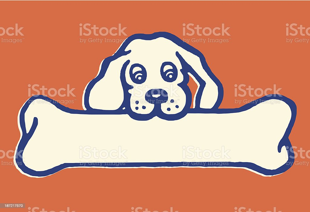 Little Dog, Big Bone royalty-free stock vector art