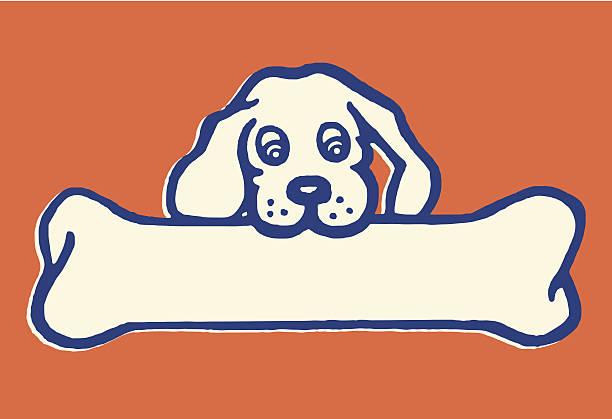 Little Dog, Big Bone vector art illustration