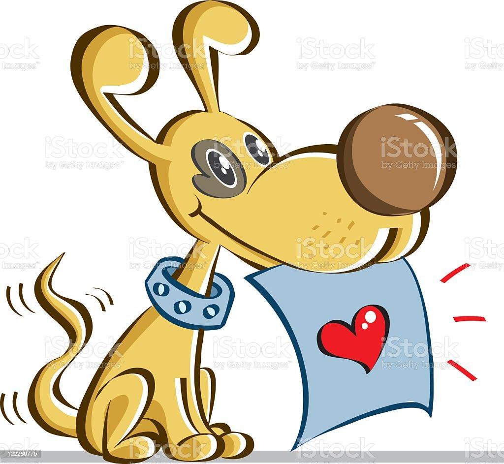 little dog royalty-free stock vector art