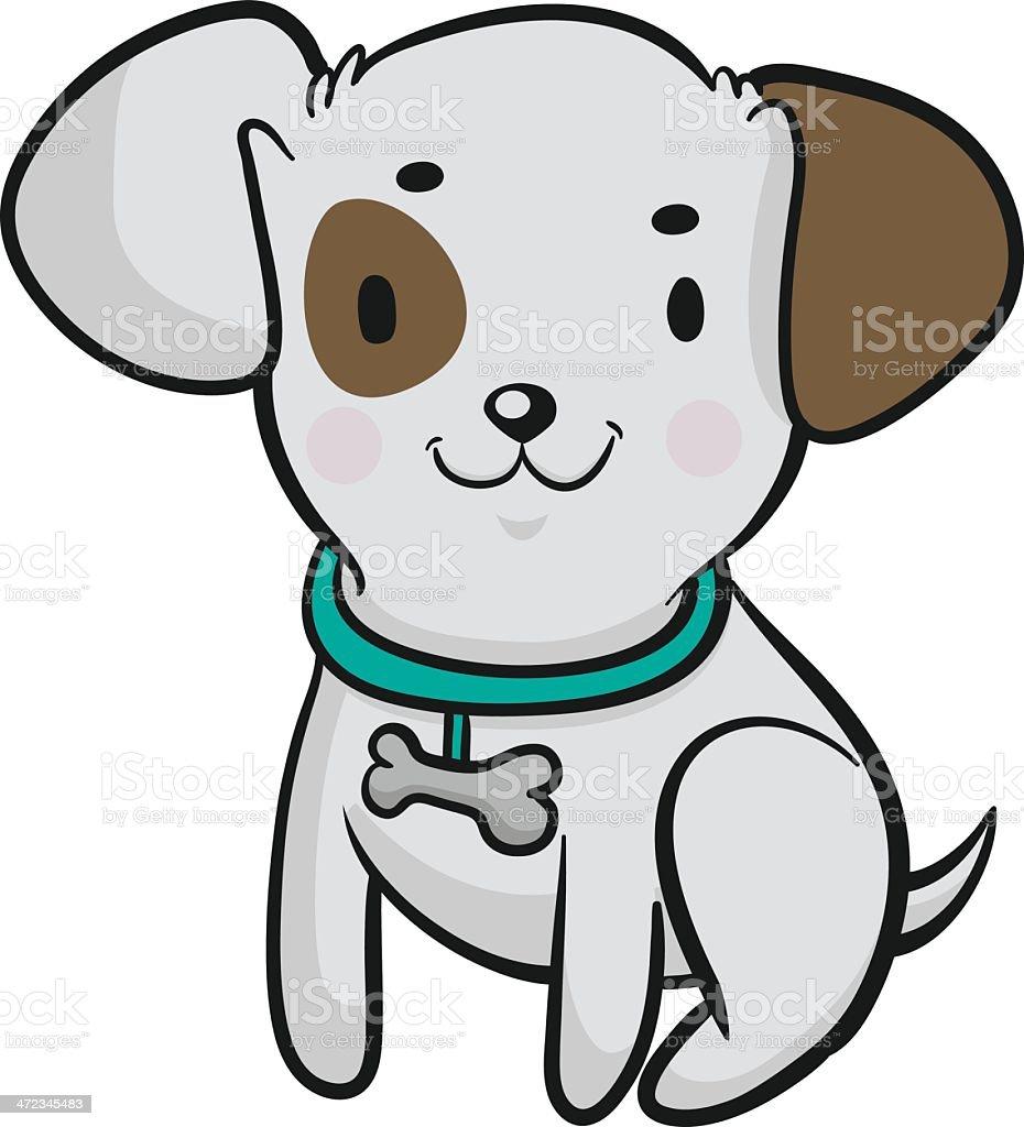 Little Dog vector art illustration