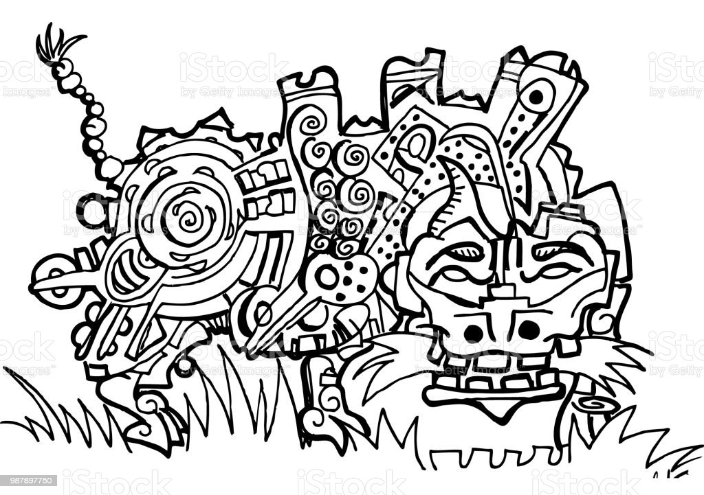 Little Dragon Coloring Page Stock Illustration - Download Image Now - IStock