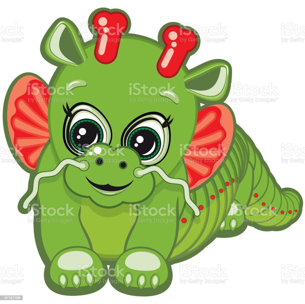 Little Dragon royalty-free stock vector art