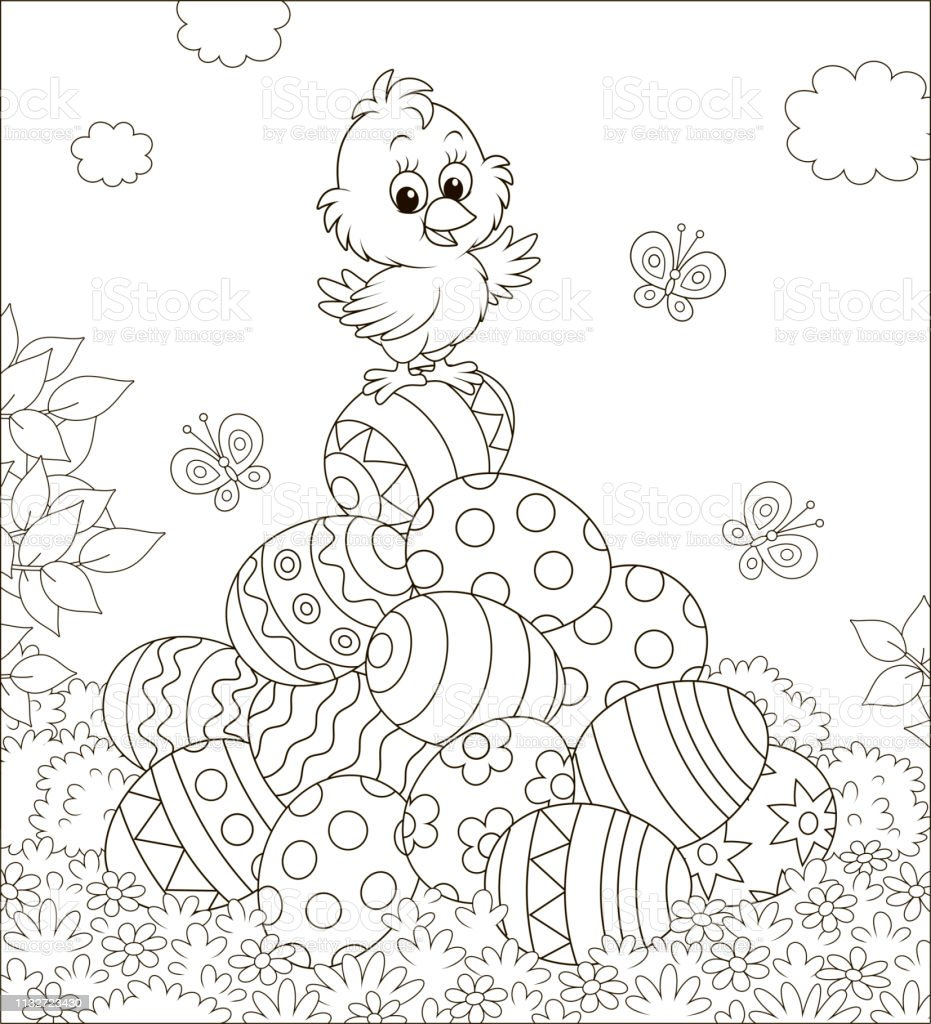 2,030 Easter Coloring Book Illustrations & Clip Art - IStock