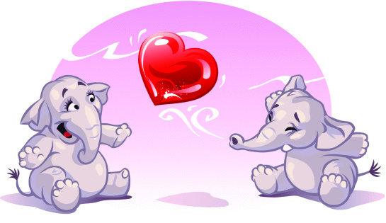 Little Elephants in Love