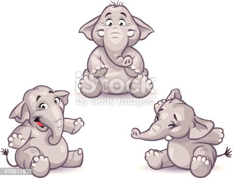 istock Little Elephants 470011803