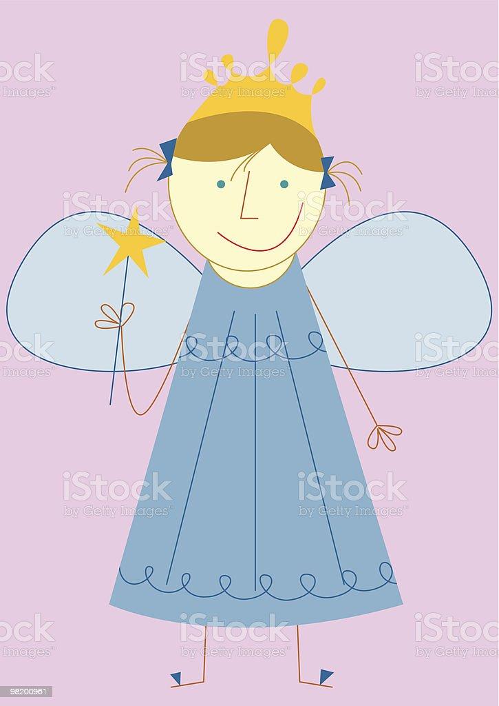 Piccola fata ragazza in blu piccola fata ragazza in blu - immagini vettoriali stock e altre immagini di abito senza maniche royalty-free