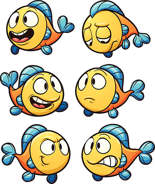 Best Happy Fish Illustrations, Royalty-Free Vector ...