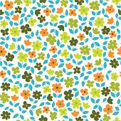 Seamless pattern with small flowers, Vector illustation.EPS10, Ai10, PDF, High-Res JPEG included.