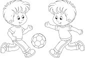 Little football players