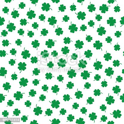 istock Little Four Leaf Clovers Seamless Pattern 930711414