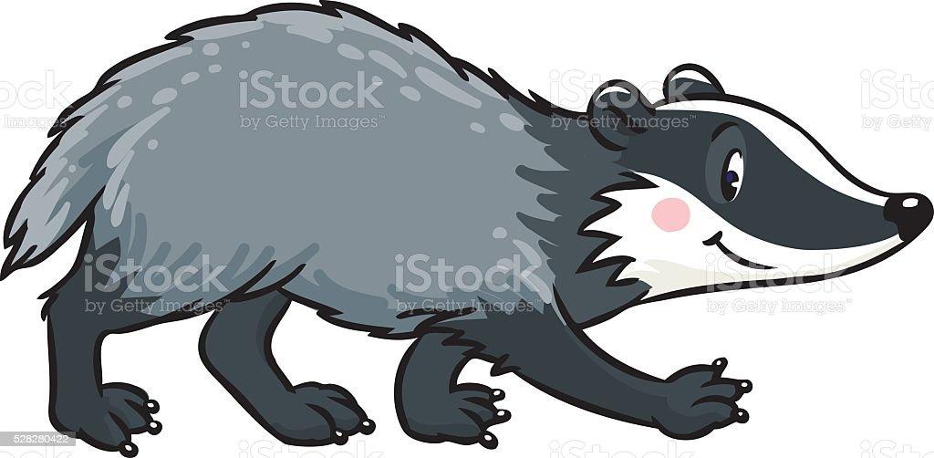 Little funny badger. Children vector illustration vector art illustration