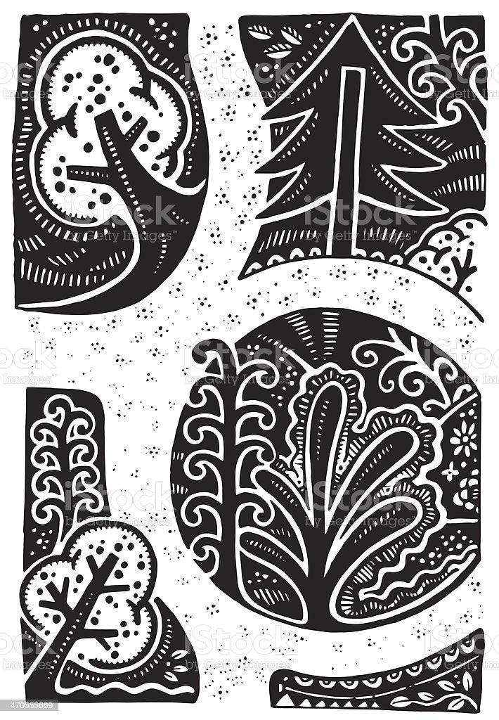 Little garden illustration vector art illustration