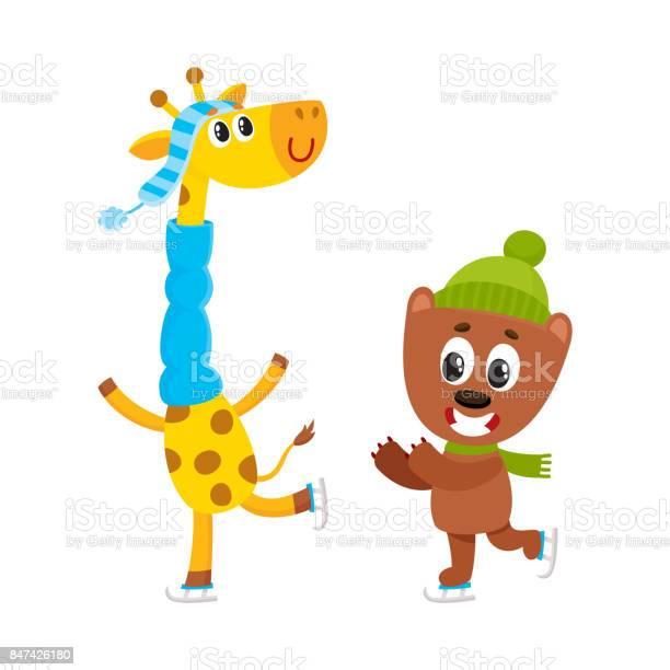 Little giraffe and bear characters ice skating vector id847426180?b=1&k=6&m=847426180&s=612x612&h=sbwqpgbcsr3bxl9fxlqjpkxiiznego jtwxtldjebc4=