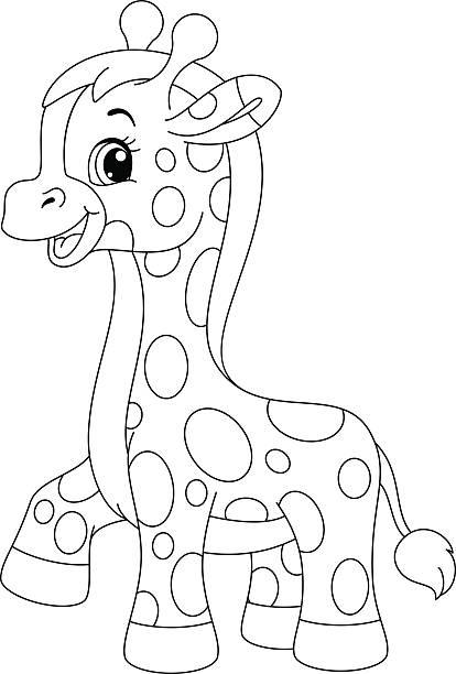 best baby giraffe illustrations royalty free vector