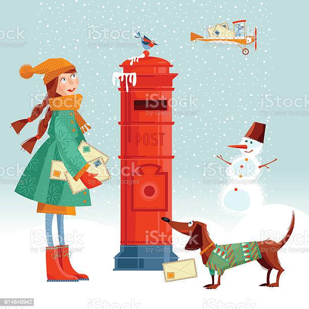 Little girl and dachshund a postbox sending lettersto santa vector id614849942?b=1&k=6&m=614849942&s=612x612&h=nthfieftiep8qw8hv2zfb9jsewzccykem5vfg2reoow=