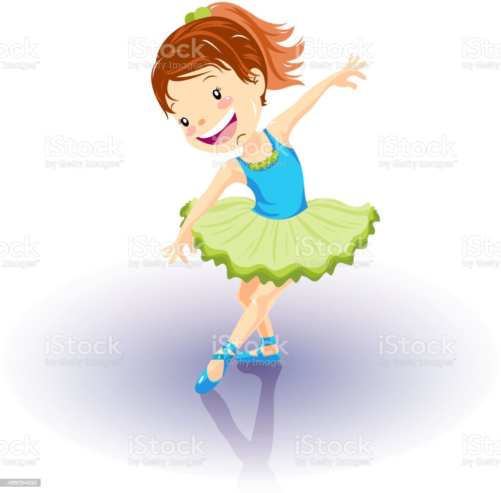 little girl ballerina dancing performance stock vector art more