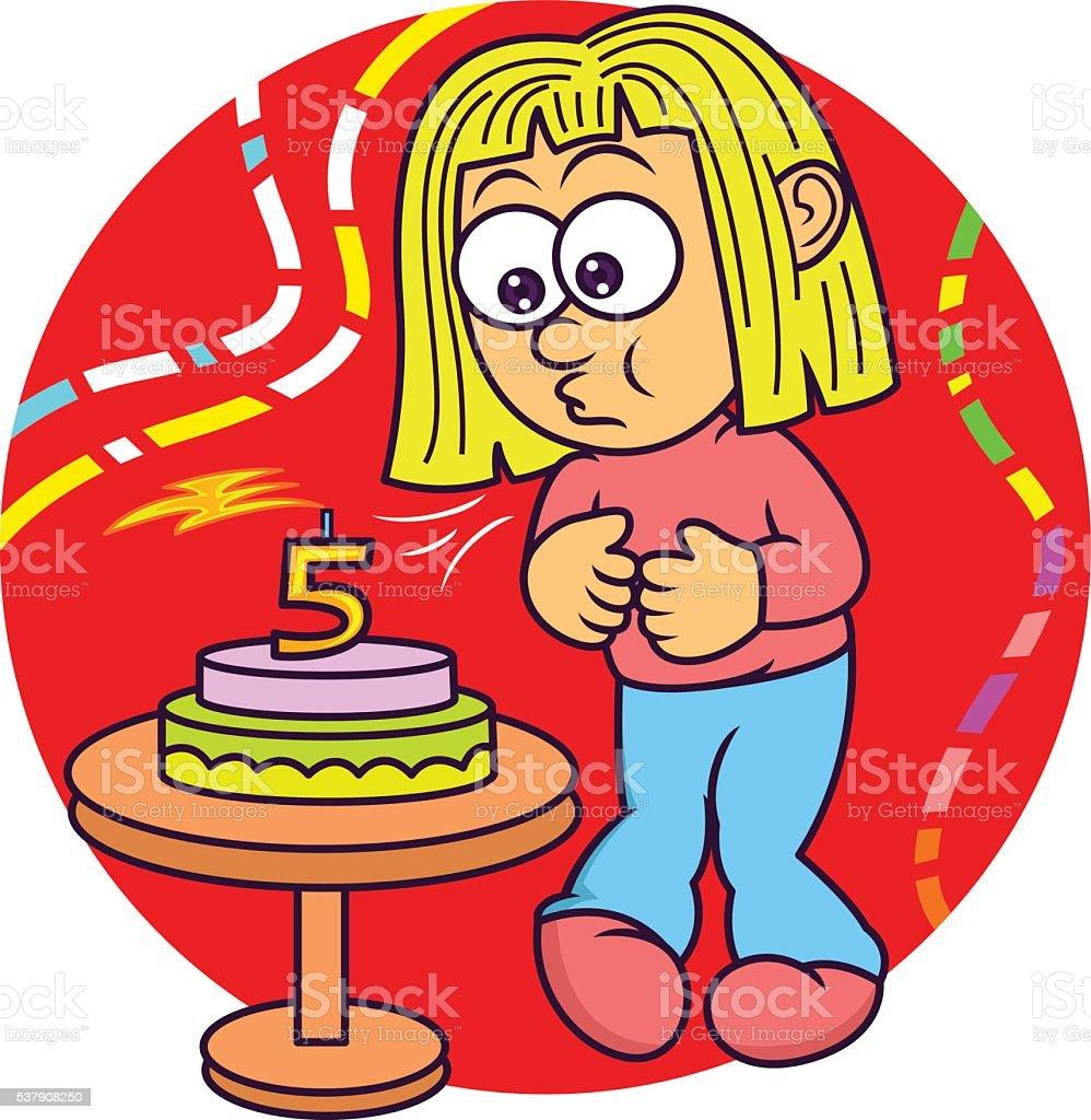 Geburtstagskuchen comic
