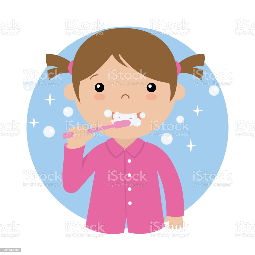Little girl brushing her teeth royalty-free little girl brushing her teeth stock vector art & more images of bathroom