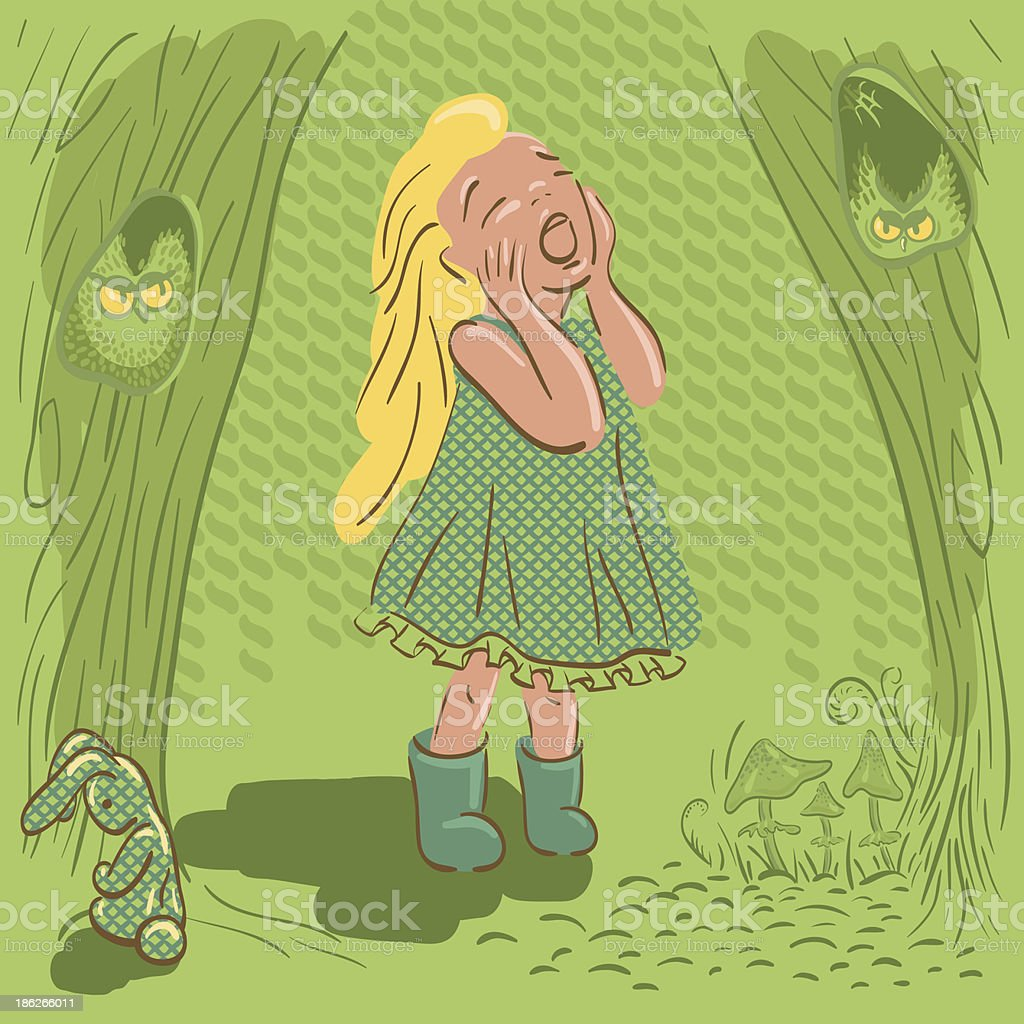 little girl crying royalty-free little girl crying stock vector art & more images of animal