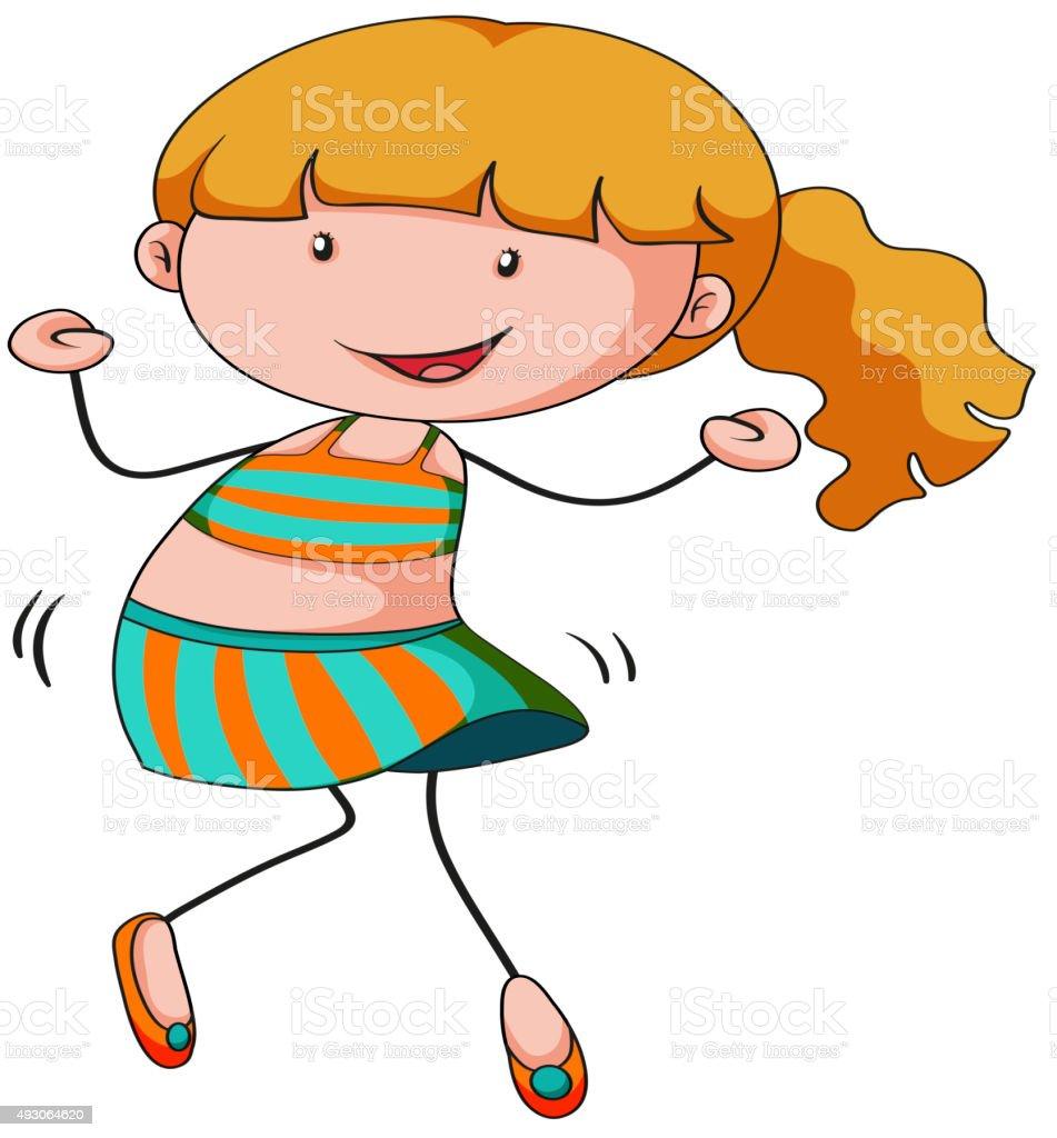 little girl dancing alone stock vector art more images of 2015 rh istockphoto com Snoopy Dancing Clip Art Ballet Clip Art