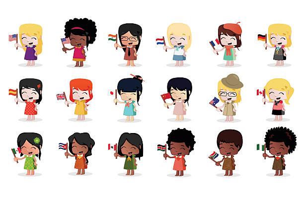 Vectores De Niño Con Francia Bandera Ilustración Dibujo